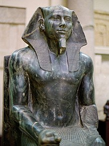 Diorite statue of Khafra, now in the Egyptian Museum at Cairo