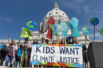 Climate justice - Children marching for climate justice (2017).