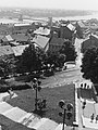Kilátás a Halászbástyáról a Vízivárosra és a Lánchídra, előtérben a Jezsuita lépcső. Fortepan 27430.jpg