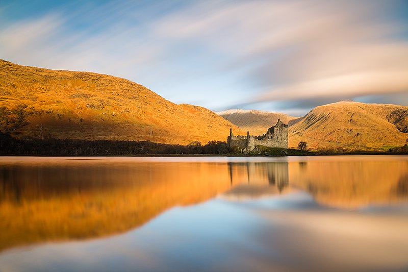 Ruins of Kilchurn Castle in Argyll and Bute, Scotland
