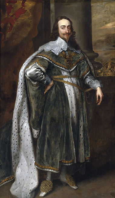 Charles I King of England, Scotland and Ireland, to whom the Confederates pledged allegiance, but could not agree to a formal alliance with in the civil wars. King Charles I after original by van Dyck.jpg