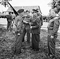 King George VI talking to a member of the Home Guard during an inspection in Kent, 10 August 1940. H2936.jpg