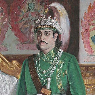 Thapa dynasty - Portrait of King Rajendra Bikram Shah, supporter of anti-Thapa faction