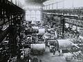 Kis Rókus utca, a Ganz gyár csarnoka (ma kiállítóközpont), generátorok összeszerelése. Fortepan 95160.jpg