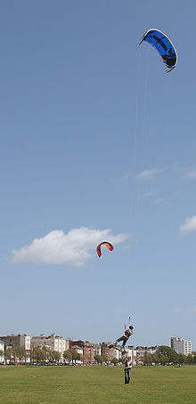 Hard Water Areas >> Kite landboarding - Wikipedia