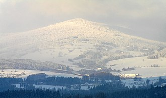 European watershed - Trójmorski Wierch - one of six places in Europe where three watersheds meet