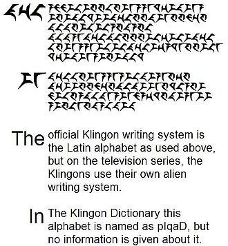 Klingon alphabets - Skybox pIqaD text sample