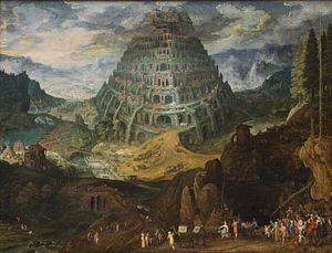 Tobias Verhaecht - Tower of Babel, Tobias Verhaecht and Jan Brueghel the Elder