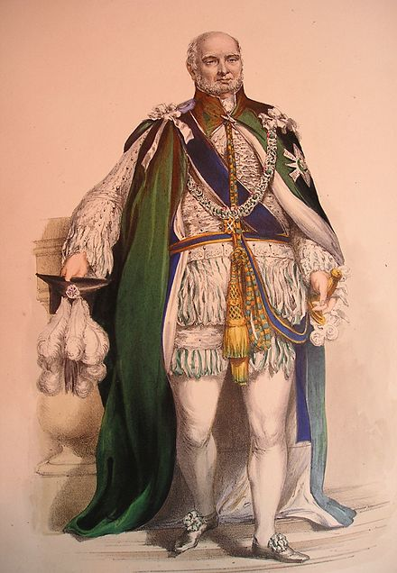 Prince Augustus Frederick, Duke of Sussex wearing the robes of a Knight Companion of the Order of the Thistle Knight of the Order of the Thistle.jpg