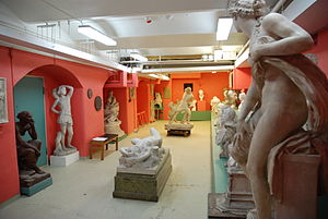 Royal Swedish Academy of Fine Arts - The Royal Academy's sculpture hall in 2010