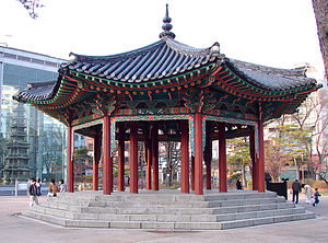 Tapgol Park - Image: Korea Seoul Tapgol Pavilion Park 0094 06