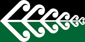 Silver fern flag - Image: Koru Fern NZ Flag