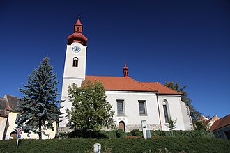 Husinec (Prachatice District) - Church of the Exaltation of the Holy Cross