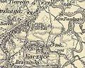 Koszyce Wielkie k.Tarnowa ok.1880r wraz z folwarkami Brzezinki i Pawlusin d.Rędzina.jpg