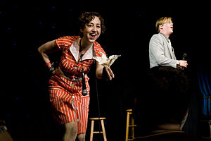 Kristen Schaal - Schaal and comedy partner Kurt Braunohler onstage in 2010