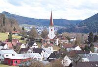 Kuhbach b. Lahr - Ortsansicht mit Pfarrkirche - 2010-02-20 (Landschaftsbild).jpg
