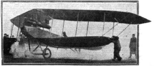 LFG Roland Pfeilflieger - The aircraft that made the 16 hour flight, showing extra tankage behind the engine