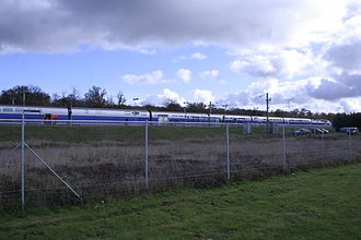 Gare du Creusot TGV - Image: LGV Sud Est at Le Creusot