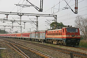 Express trains in India - Image: LHB Rajdhani Rake