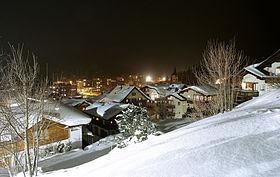 Blick auf die verschneite Lenzerheide