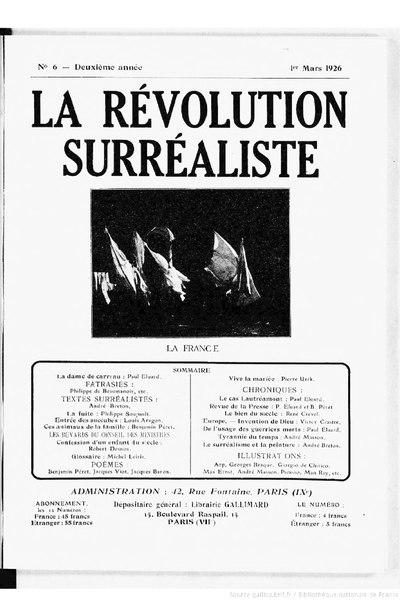 File:La Révolution surréaliste, n06, 1926.djvu