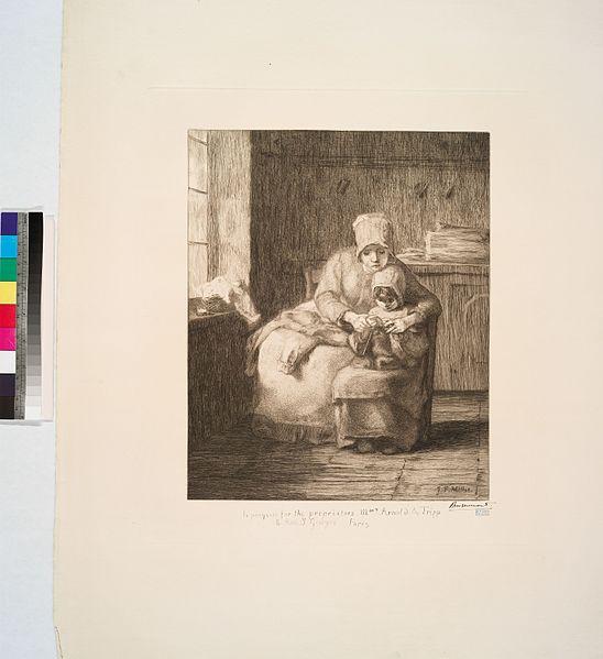 File:La leçon de tricot, d'après Millet (NYPL b14693583-1153436).jpg