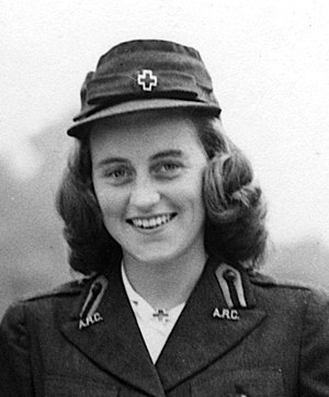 Kathleen Cavendish, Marchioness of Hartington - Kennedy wearing an American Red Cross uniform in London, c. 1943