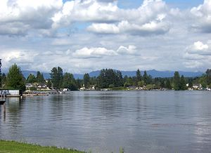 Lake Stevens, Washington - Northeast shore of lake on which the city is located