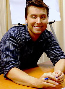 Lance Bass at a book signing in New York City on October 23, 2007