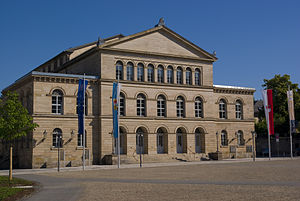 Landestheater Coburg - Front facade of the Landestheater Coburg