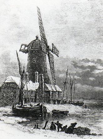 Langstone, Hampshire - Image: Langstone Windmill 1869