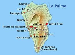 Kaart van La Palma