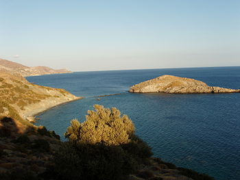 Kaloi Limenes in Crete, where the ancient city...