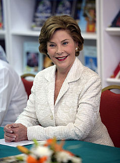 Laura Bush American First Lady and educator