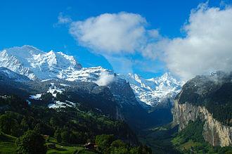 Bernese Highlands - View of the Lauterbrunnen Valley