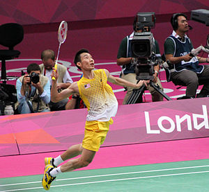 Lee Chong Wei - Playing in the semifinals of the 2012 Olympics