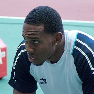 2008 Central American and Caribbean Championships in Athletics - Leevan Sands (above) broke the men's triple jump record