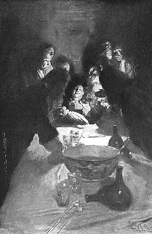 Jacob Leisler - Howard Pyle's depiction of Governor Sloughter signing Leisler's death warrant