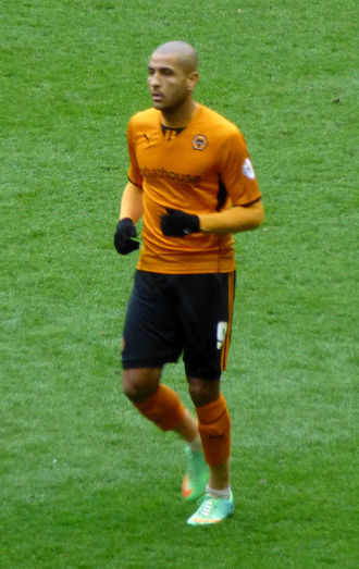 Leon Clarke - Clarke playing for Wolverhampton Wanderers in 2014