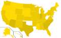 Libertarian Party presidential election results, 2008, ordinal (United States of America).png