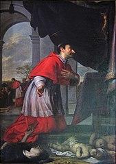 Saint Charles Borromée priant pour les malades de la peste