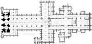 Floor plan of Lincoln Cathedral