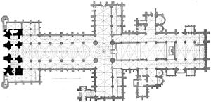 Hugh of Lincoln - A plan of Lincoln Cathedral drawn by G Dehio (died 1932)