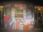Waggon eines Zuges der U-Bahn-Linie A
