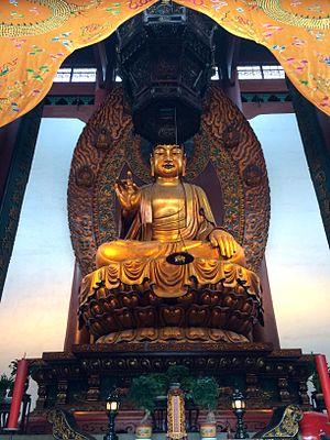 Lingyin Temple - The Shakyamuni Buddha statue at the Grand Hall of the Great Sage