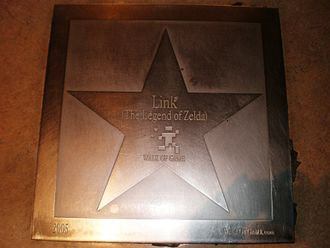 Link (The Legend of Zelda) - Link's star at the Walk of Game in the Metreon, San Francisco