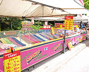 A booth selling candy