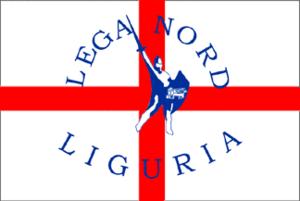 Lega Nord Liguria - Historical party flag of Lega Nord Liguria
