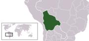Localización de Bolivia