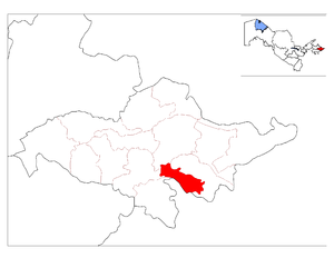 Buloqboshi District - Image: Location of Buloqboshi District in Andijon Province